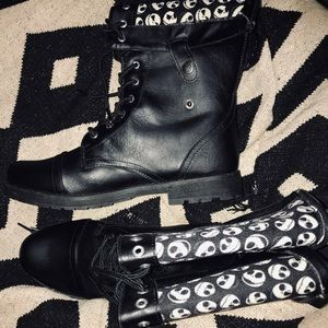 Nightmare Before Christmas Combat Boots